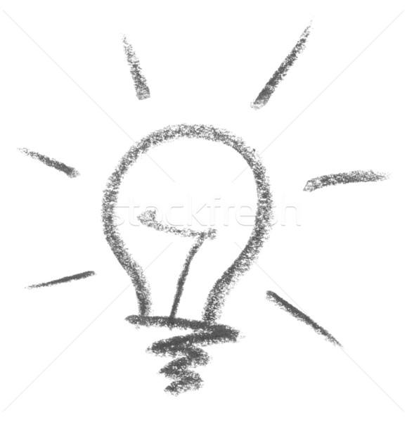 light bulb sketch Stock photo © prill