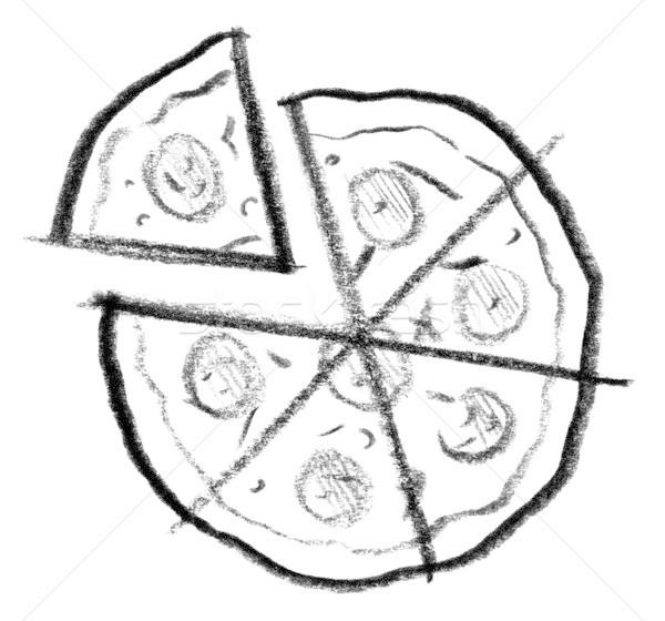 pizza icon Stock photo © prill