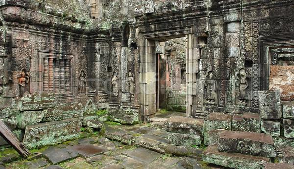 Detay tapınak angkor Kamboçya Bina sanat Stok fotoğraf © prill