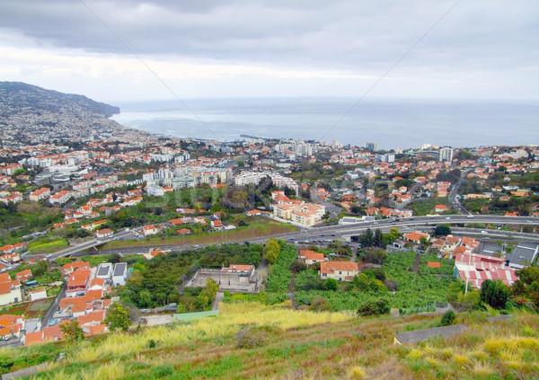 Madeira díszlet körül város sziget épület Stock fotó © prill