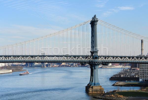 Manhattan Bridge and East River Stock photo © prill