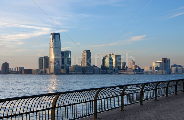 skyline of Jersey City Stock photo © prill