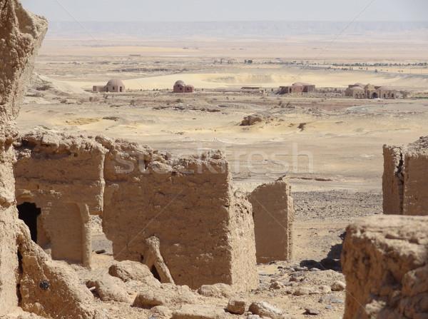впечатление вокруг исторический кладбища Египет пустыне Сток-фото © prill