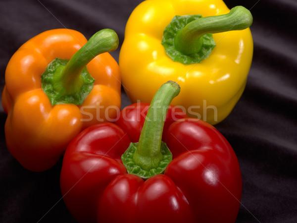 Campana peperoni fresche rosso arancione giallo Foto d'archivio © prill