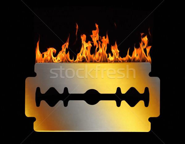 горячей бритва лезвия студию фотографии Сток-фото © prill