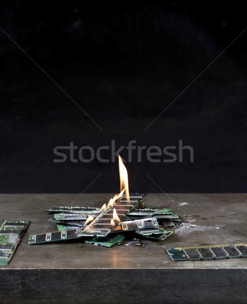 Brucia ricordo arrugginito metal piatto Foto d'archivio © prill