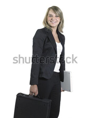 young smiling business woman Stock photo © prill