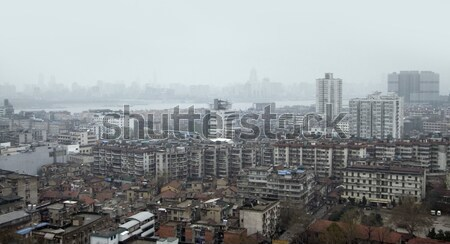 Wuhan aerial view Stock photo © prill