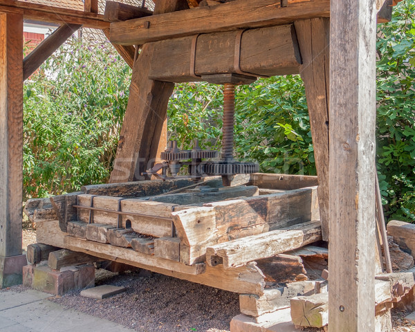 historic wine press Stock photo © prill