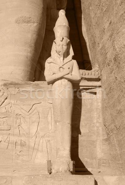 каменные скульптуры подробность древних Египет Солнечный Сток-фото © prill