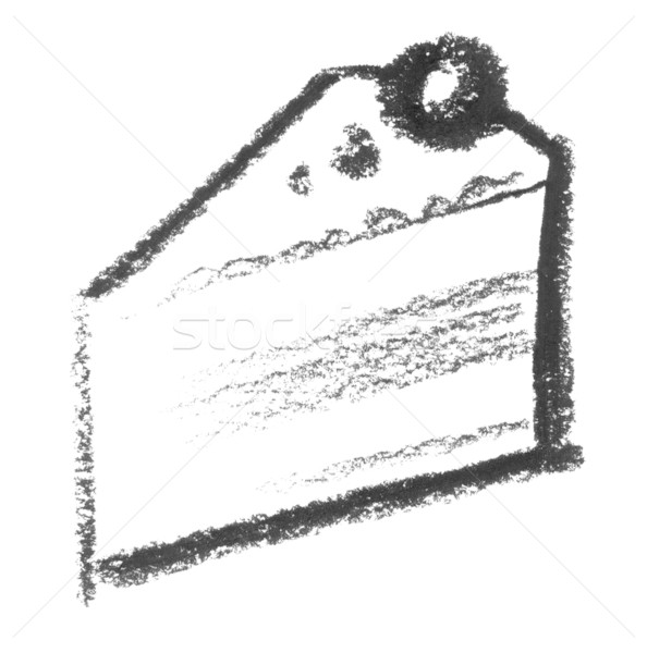sketched piece of cake Stock photo © prill