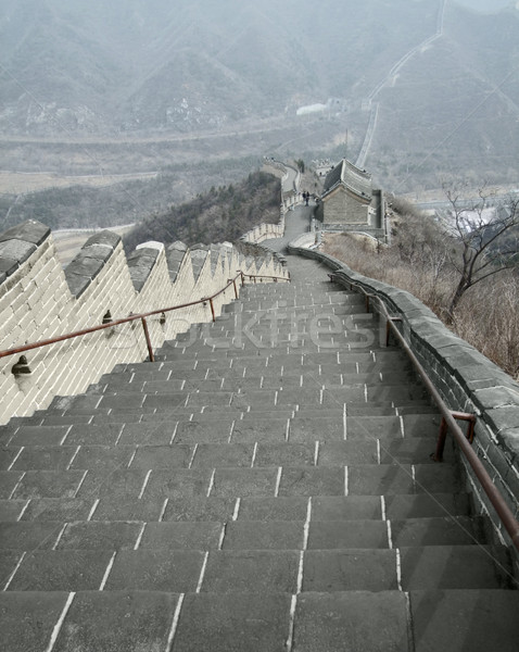 on the Great Wall of China Stock photo © prill