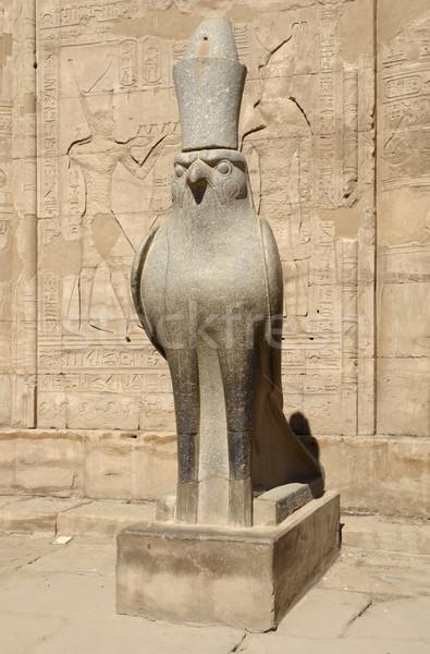 Horus statue at the Temple of Edfu in Egypt Stock photo © prill
