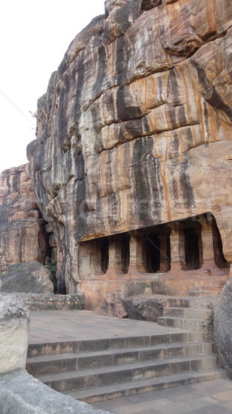 detail of the Badami Cave Temples Stock photo © prill