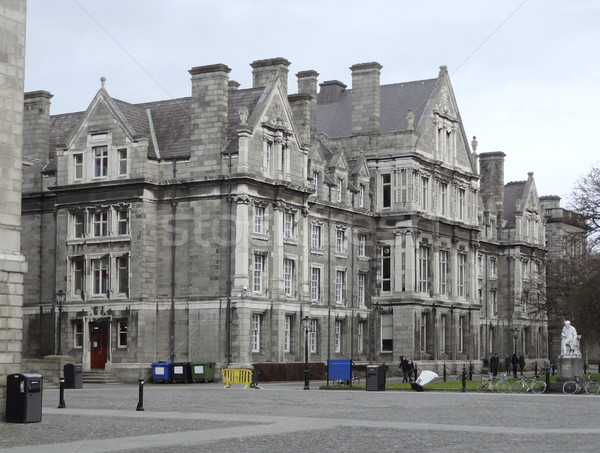 Történelmi épületek Dublin város Írország ház Stock fotó © prill