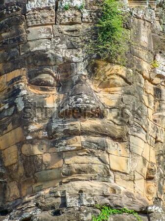 Temple detail at Bayon Stock photo © prill