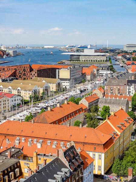 Copenhague Dinamarca ciudad mar viaje Foto stock © prill