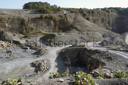 quarry scenery with roads at summer time Stock photo © prill