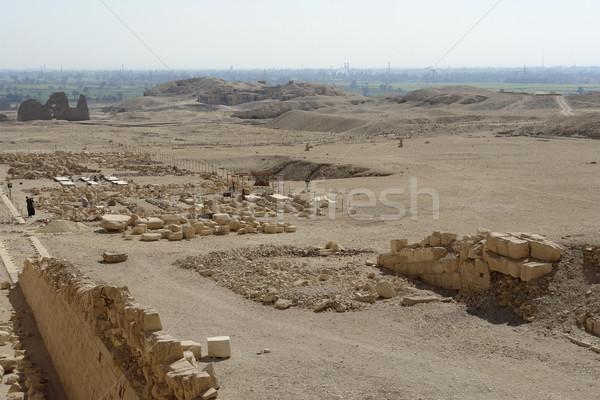 around the Mortuary Temple of Hatshepsut Stock photo © prill