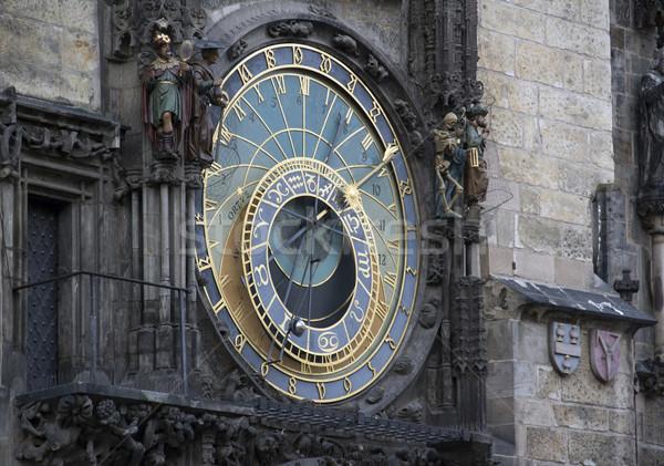 Prága csillagászati óra Csehország ház idő Stock fotó © prill