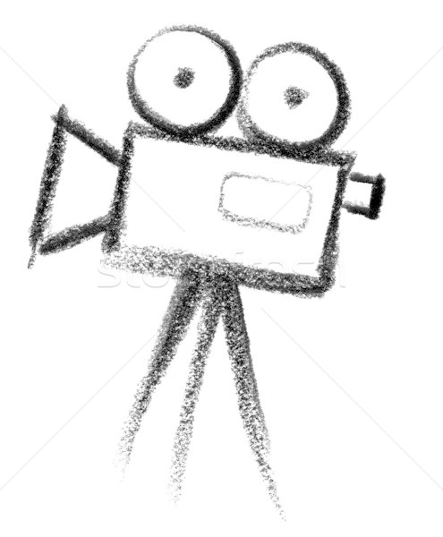 movie camera icon Stock photo © prill