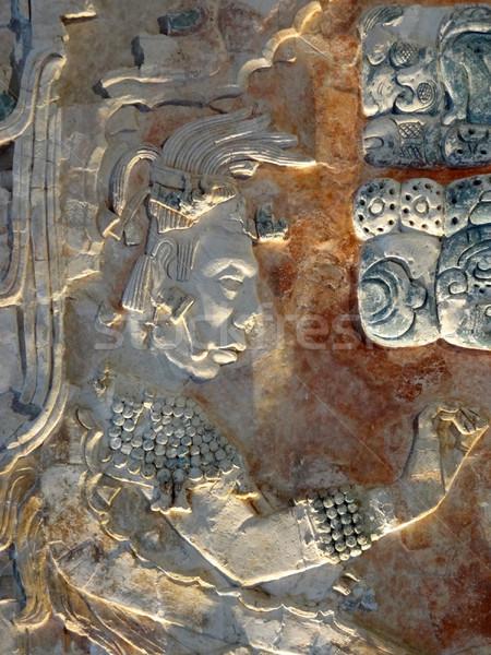 Ulga szczegół świątyni ruiny sztuki kamień Zdjęcia stock © prill