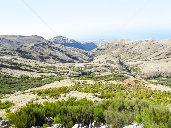 Ada madeira dağ manzara manzara seyahat Stok fotoğraf © prill