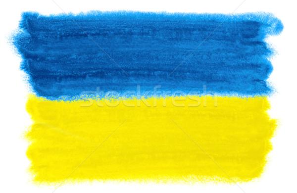 ウクライナ フラグ 実例 水彩画 背景 芸術 ストックフォト © prill
