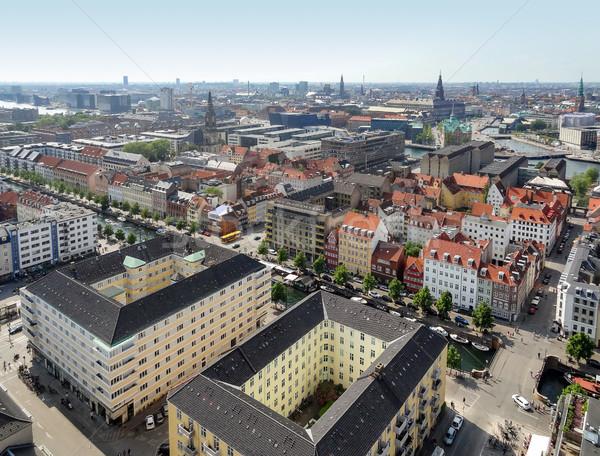 Copenhague Dinamarca cidade construção viajar Foto stock © prill