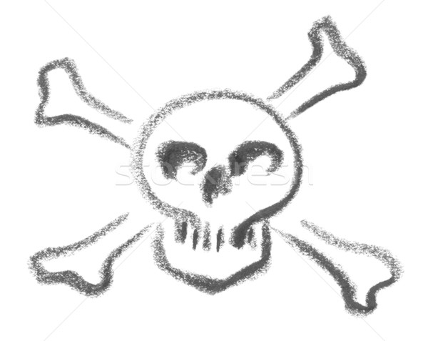 skull and crossed bones sketch Stock photo © prill