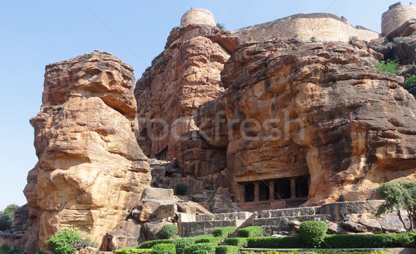 a Badami Cave Temple Stock photo © prill