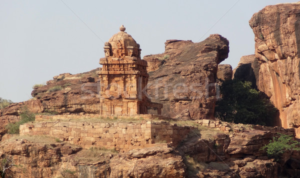 temple in Badami Stock photo © prill