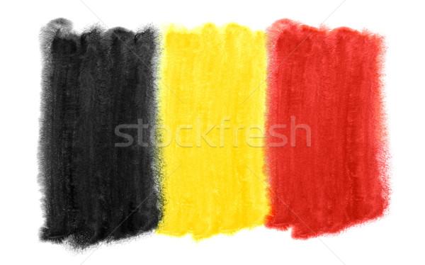 Bélgica bandera ilustración acuarela fondo arte Foto stock © prill