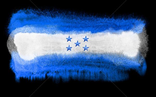 Honduras bandiera illustrazione acquerello sfondo arte Foto d'archivio © prill