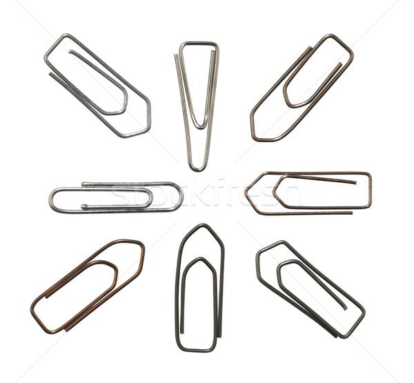 metallic paper clips variation Stock photo © prill