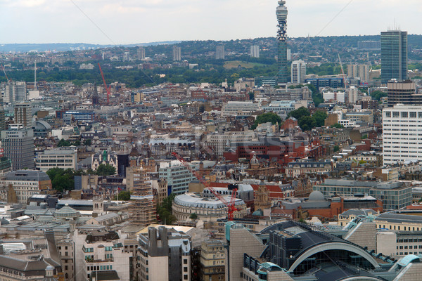 aerial view of London City Stock photo © prill