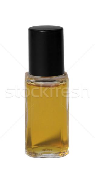 Küçük parfüm şişe siyah stüdyo fotoğrafçılık Stok fotoğraf © prill