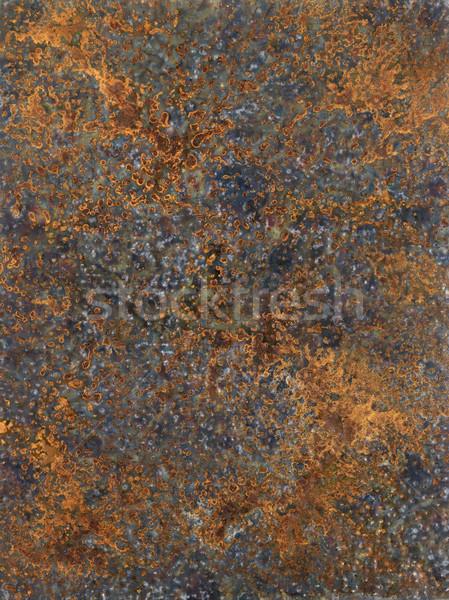 Corrosión Foto pintado me metálico superficie Foto stock © prill