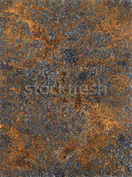 Corrosão quadro pintado me metálico superfície Foto stock © prill