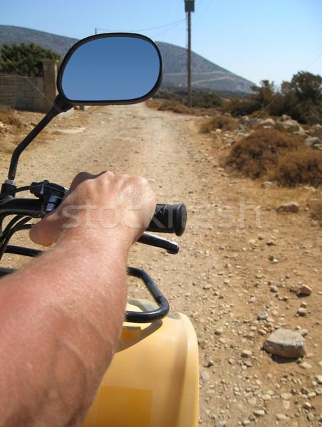 quad driving in Naxos Stock photo © prill