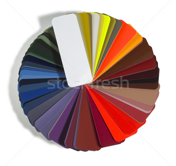 round spread color chart Stock photo © prill