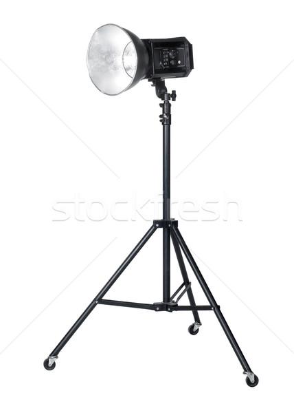 Stok fotoğraf: Profesyonel · el · feneri · stüdyo · yalıtılmış · beyaz