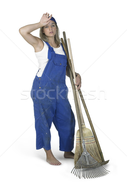 gardening girl dressed in workwear Stock photo © prill