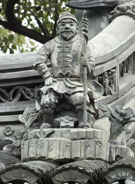Stock photo: sculpture at the Yuyuan Garden