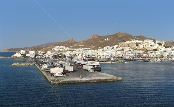 city of Naxos in Greece at evening time Stock photo © prill