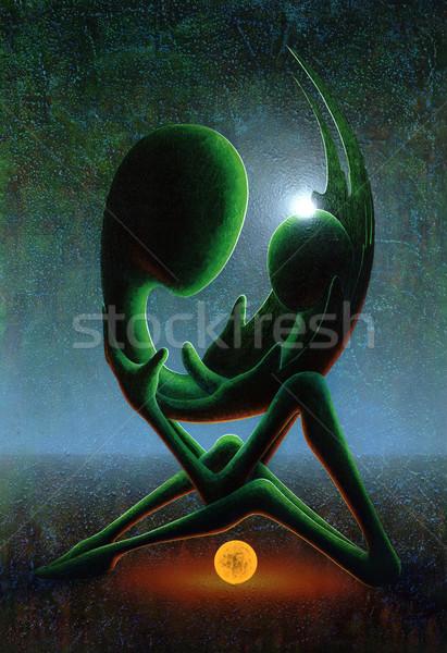 Nouvelle début symbolique photos peint moi Photo stock © prill