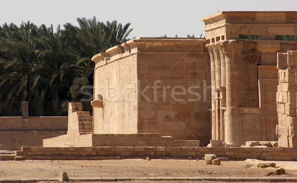Tempel oude metropolis Egypte gebouw woestijn Stockfoto © prill