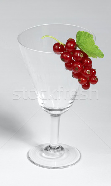Redcurrant and glass Stock photo © prill