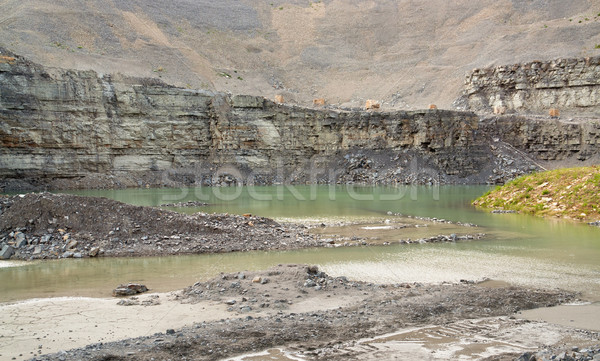 Stock photo: gravel quarry