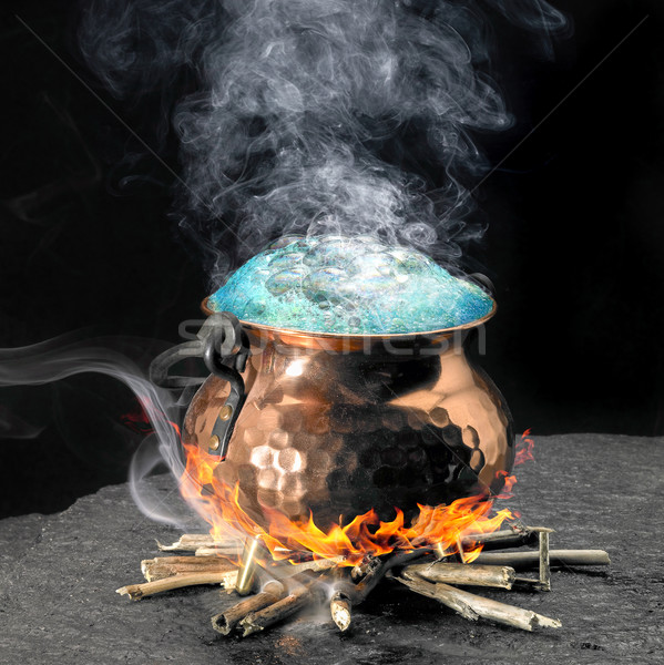 blue magic potion Stock photo © prill